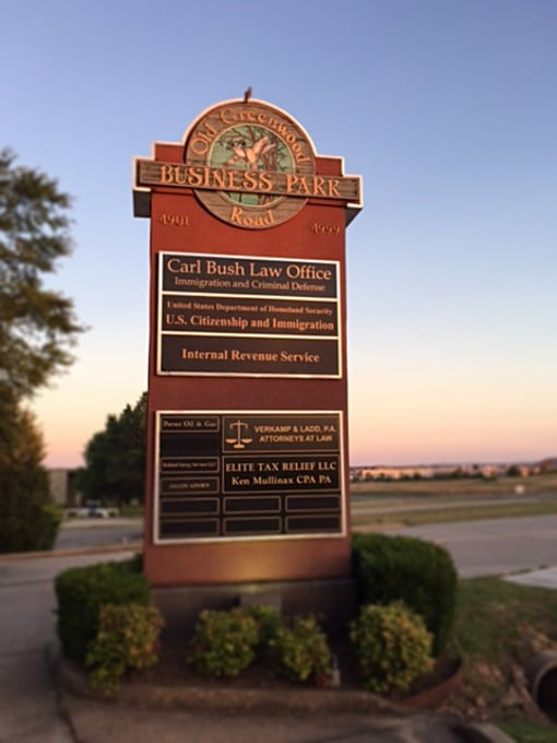 Preferred Counseling Business Park Sign