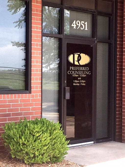 Preferred Counseling Facility Entrance Door