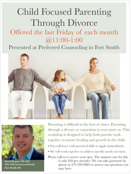 Child Focused Parenting Through Divorce Seminar by David Bourne - Monthly 2019