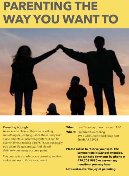Parenting the Way You Want To Seminar Flyer, by David Bourne | Last Thursdays of the Month at 11am